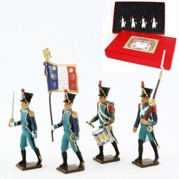 Canonniers Garde-Côtes (1810-1813), coffret de 4 figurines