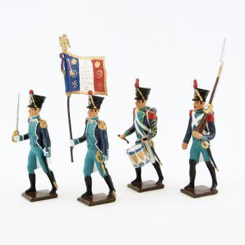 Canonniers Garde-Côtes (1810-1813), ensemble de 4 figurines