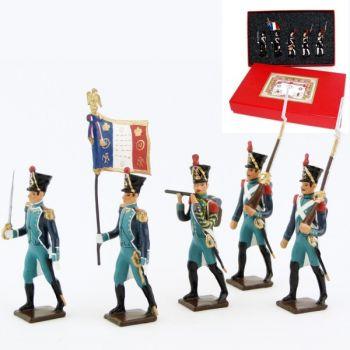 Canonniers Garde-Côtes (1810-1813), coffret de 5 figurines