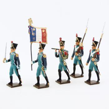 Canonniers Garde-Côtes (1810-1813), ensemble de 5 figurines