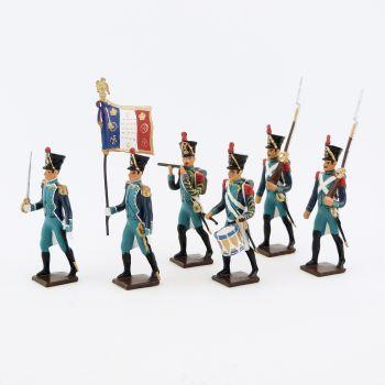 Canonniers Garde-Côtes (1810-1813), ensemble de 6 figurines