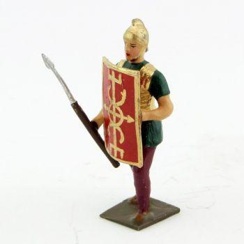 romain de la tortue, avec bouclier à la main gauche