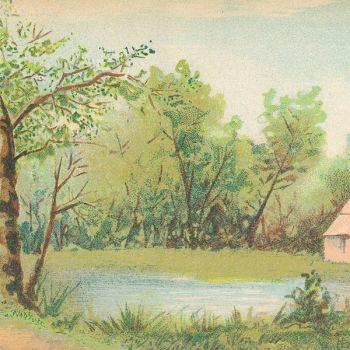 Campagne (village) (l. 59 x h. 14,5 cm)