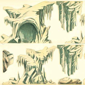 Icebergs / rochers (à découper) (l. 60 x h. 14 cm)