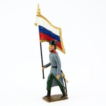 drapeau de l'infanterie russe en Chapska (Toque)