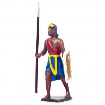 égyptien avec lance et bouclier