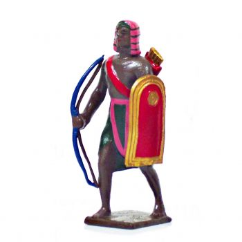 égyptien avec arc et bouclier