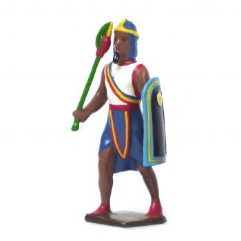 égyptien avec casse-tête et bouclier