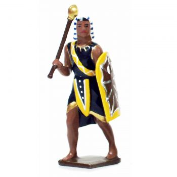 égyptien avec massue et bouclier