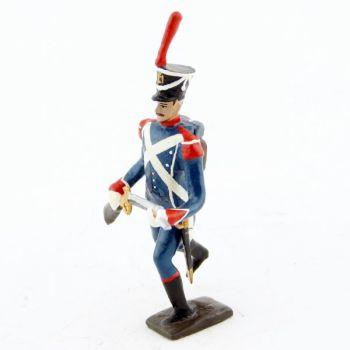 voltigeur d'infanterie légère à l'assaut
