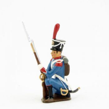 voltigeur d'infanterie légère à genou, fusil au pied