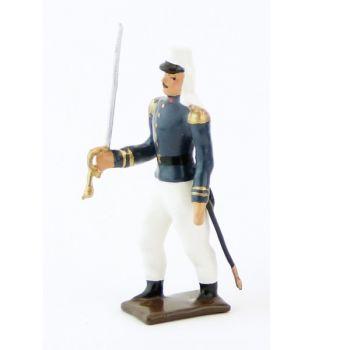officier de la légion tenue bleue (maroc) en tunique (1910)