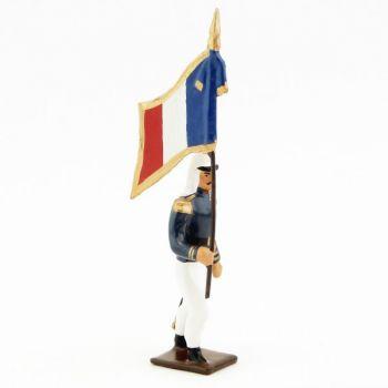 drapeau de la légion tenue bleue (maroc) en tunique (1910)
