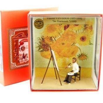 coffret ''Van Gogh peignant ''les Tournesols''