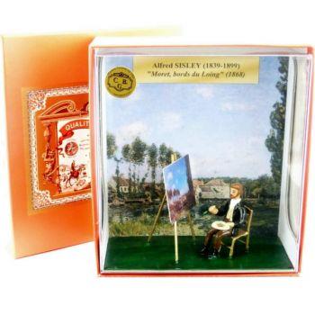 coffret ''Sisley peignant ''Moret, les bords du Loing''