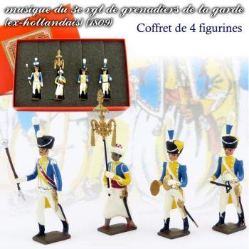 coffret de 4 musiciens du 3e rgt de grenadiers (1 Tambour-Major, 1 Chapeau chinois,