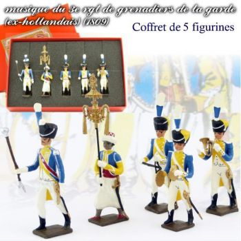 coffret de 5 musiciens du 3e rgt de grenadiers (1 Tambour-Major, 1 Chapeau-chinois,