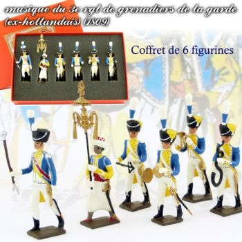 coffret de 6 musiciens du 3e rgt de grenadiers (1 Tambour Major, 1 Chapeau chinois,