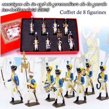 coffret de 8 musiciens du 3e rgt de grenadiers (Tambour Major, Chapeau chinois, Tamb