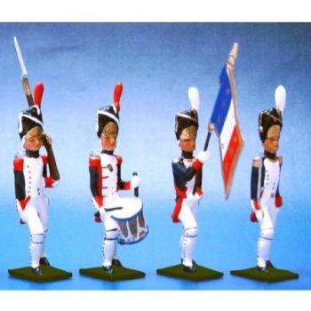 Grenadiers de la Garde, ensemble de 4 figurines