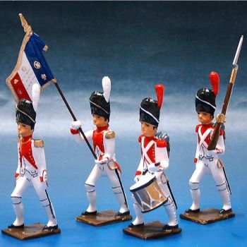 3e Rgt de Grenadiers, ensemble de 4 figurines