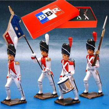 3e Rgt de Grenadiers, coffret de 4 figurines