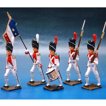3e Rgt de Grenadiers, ensemble de 5 figurines