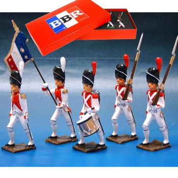 3e Rgt de Grenadiers, coffret de 5 figurines