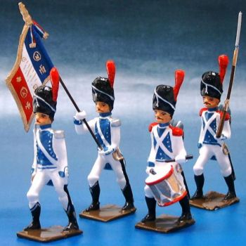 Grenadiers de Cleves-Berg, ensemble de 4 figurines