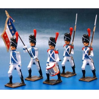 Grenadiers de Cleves-Berg, ensemble de 5 figurines