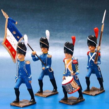 Régiment d'Isembourg, ensemble de 4 figurines