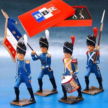 Régiment d'Isembourg, coffret de 4 figurines