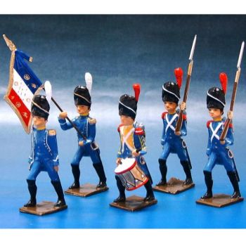 Régiment d'Isembourg, ensemble de 5 figurines
