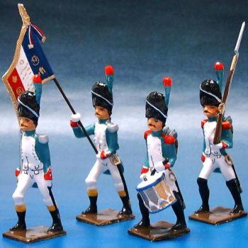 Grenadiers Italiens, ensemble de 4 figurines