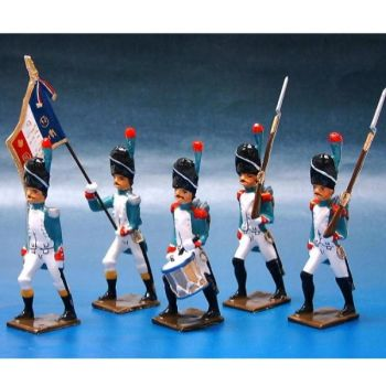 Grenadiers Italiens, ensemble de 5 figurines