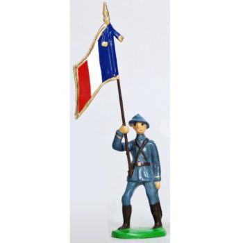 Drapeau - Infanterie De Ligne, Casque Adrian, Bleu Horizon (1915)