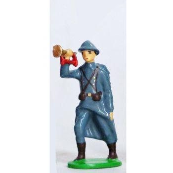 Clairon - Infanterie De Ligne, Casque Adrian, Bleu Horizon (1915)