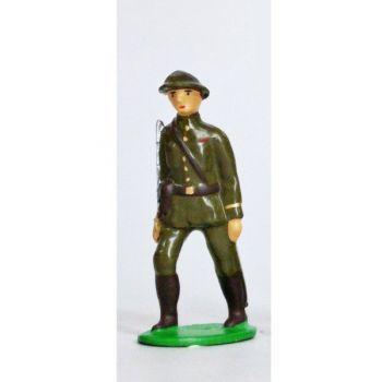 Officier - Infanterie De Ligne, Casque Adrian, Tenue Kaki (1939-1945)