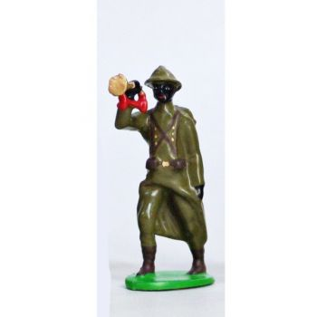 Clairon - Infanterie Senegalaise, Casque Adrian (1935-1945)