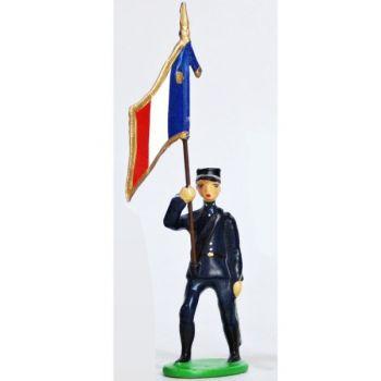 Drapeau - Chasseurs Alpins, Tenue Bleue