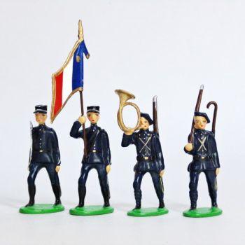 Chasseurs Alpins, Tenue Bleue, ensemble de 4 figurines