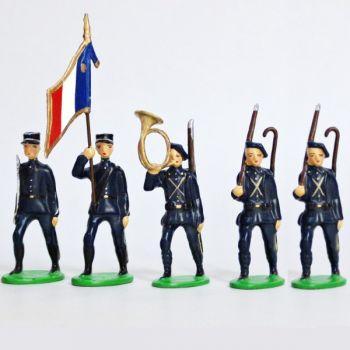 Chasseurs Alpins, Tenue Bleue, ensemble de 5 figurines