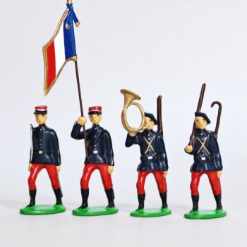 Infanterie Alpine (1914), ensemble de 4 figurines