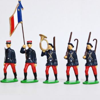 Infanterie Alpine (1914), ensemble de 5 figurines
