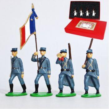 Infanterie de ligne en kepi, bleu horizon (1915), coffret de 4 figurines