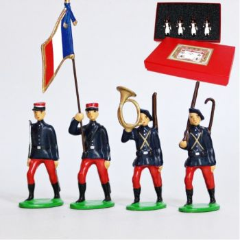 Infanterie Alpine (1914), coffret de 4 figurines