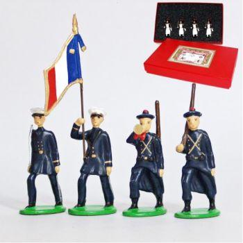 Fusiliers Marins En Bleu, coffret de 4 figurines