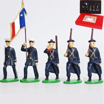 Fusiliers Marins En Bleu, coffret de 5 figurines
