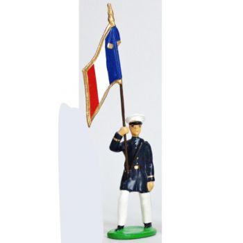 Drapeau - Fusiliers Marins En Blanc