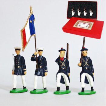Fusiliers Marins En Blanc, coffret de 4 figurines